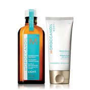MOROCCANOIL - Zestaw Soften & Shine Kuracja Light 125 ml + Krem do rąk 75 ml