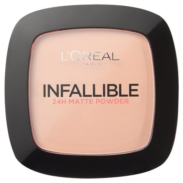 Loreal Infallible 24H 160 Sand Beige, Matowy puder do twarzy 9 g